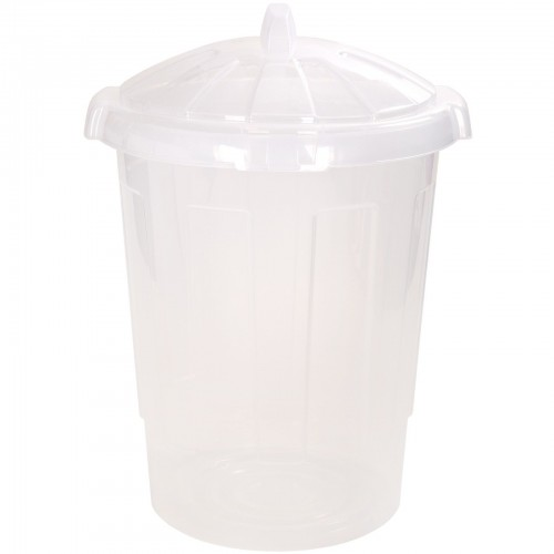 Food Storage Bin 80L Clear Plastic Container Kitchen