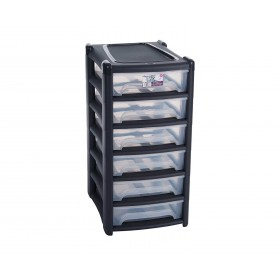 6 Drawer Plastic Storage Tower | Stackable Storage Containers with Drawers