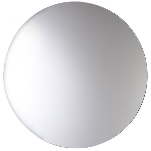 Frameless Bathroom Mirror Large Bevelled Edge Round Wall Hanging Mirrors 60 cm