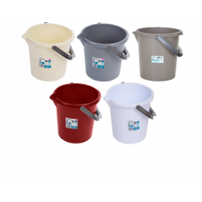 10 Litre Plastic Buckets With Lids | Nappy Bucket with Lid