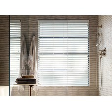 Fauxwood Wooden String Venetian Blinds Slats Smooth Trimmable White