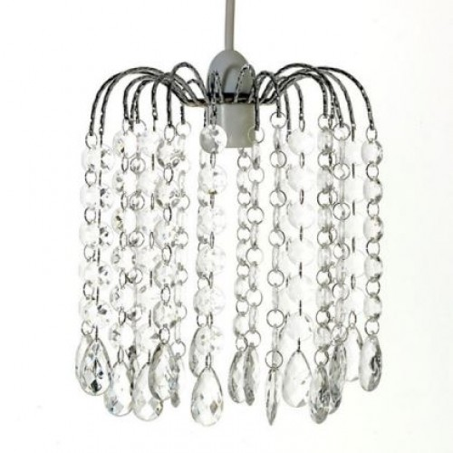 Modern Acrylic Crystal Bead Chandelier Style Ceiling Light Shade Droplet Pendant