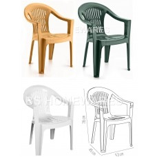 Green and White Plastic Garden Chairs Cheap | Plastic Garden Furniture