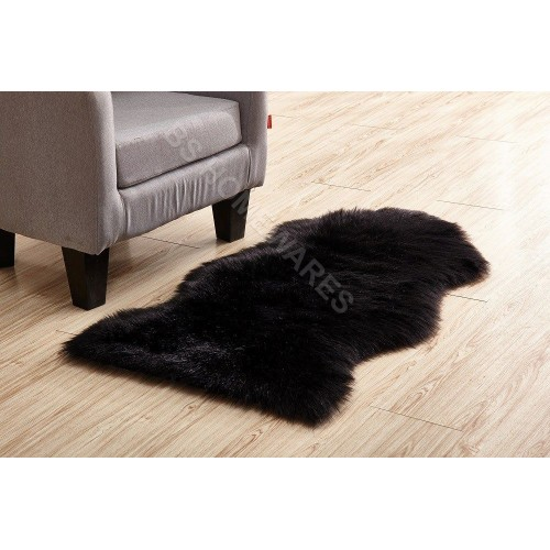 Soft Sheepskin Plain Fluffy Skin Faux Fur Hairy Rug