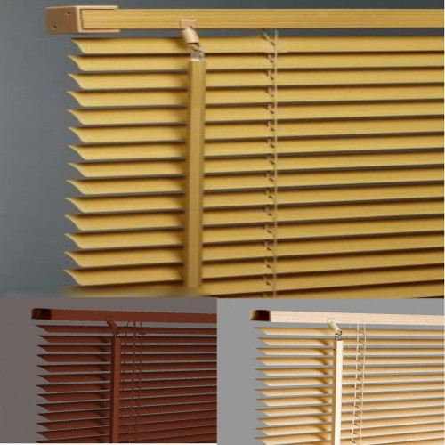 PVC Venetian Blinds Online| Wood Effect Venetian Blinds| 105cm Wide