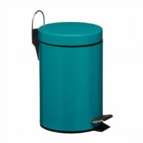 3 litre pedal bin small kitchen pedal bins for Turquoise bathroom bin