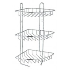 3 Tier Shower Corner Caddy | Shower Shampoo Holder | Stainless Steel Chrome