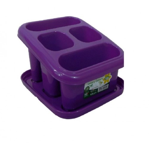 NEW PLASTIC 4 COMPARTMENT SINK TIDY, CUTLERY DRAINER HOLDER WITH DRIP TRAY