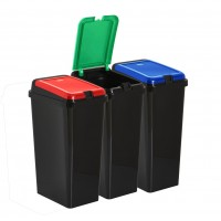 45L Rectangular Touch Top Bin Kitchen Bins