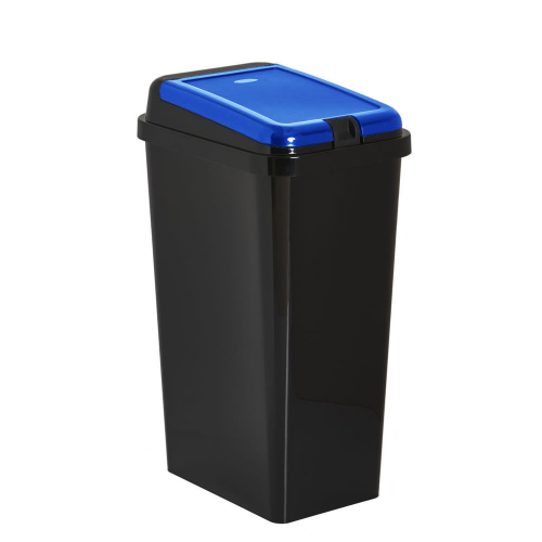 Black Kitchen Bin Sale: Kitchen Waste Bin 45L Touch Top Bin Blue Home Recycling