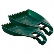 Plastic 2x Large Handy Leaf Grabbers Garden Scoop