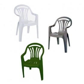 Plastic Garden Chairs Cheap | Plastic Patio Chairs in White, Green, Silver grey