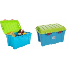 Set of of 2 Plastic Storage Box / Trunk Large Stackable Storage Kids Toy and Industry Use