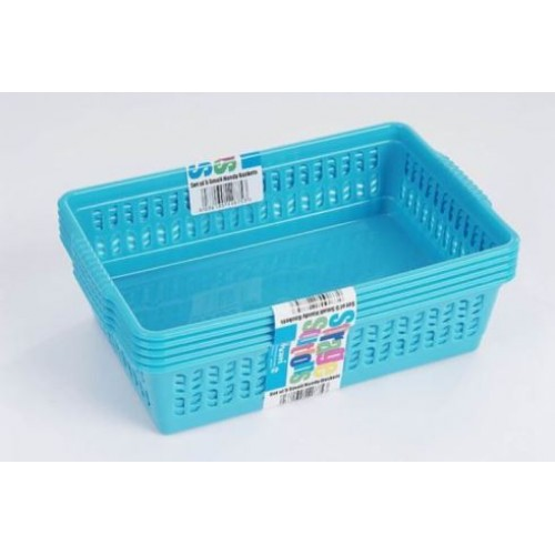 Plastic basket storage | Handy basket | Small Storage Boxes | Pack of 5