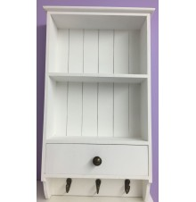 Wooden Shelf  Wall Unit Cupboard Display storage Unit White
