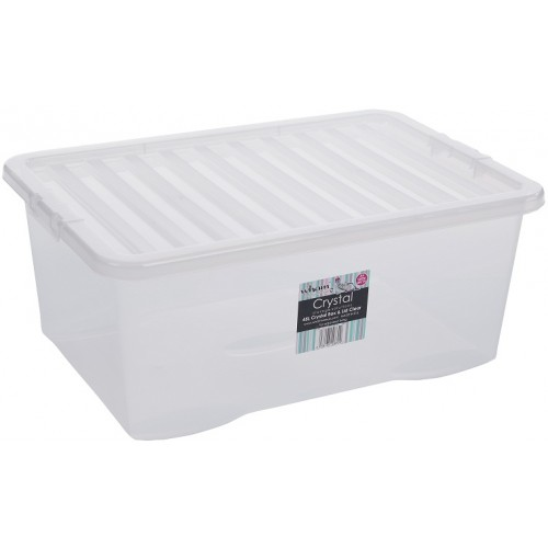 Wham 45 Liter Storage Box With Lid Clear