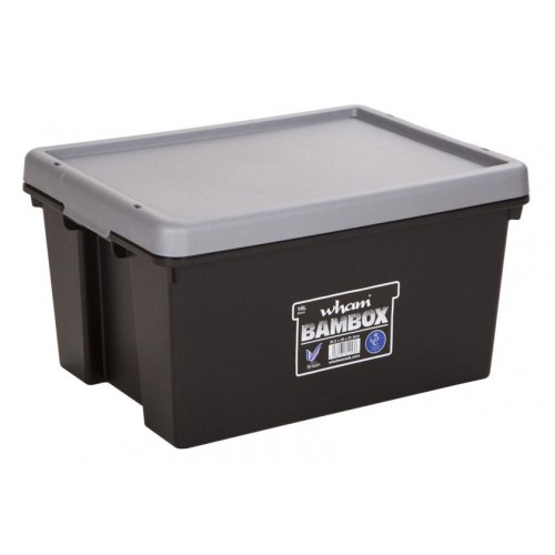 New Heavy Duty Plastic Storage Boxes 16L Trunk Organiser Tidy With Lid
