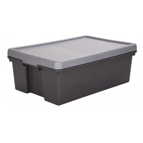 New Heavy Duty Plastic Storage Boxes 36L Trunk Organiser Tidy With Lid