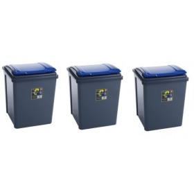 50 Liter Recycle Bin Set Of 3
