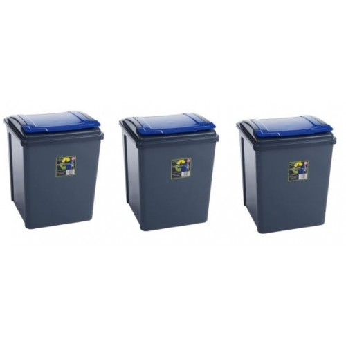 50l Waste Bin | Recycling Waste bins | Blue Lid