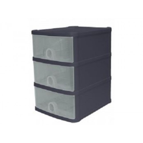 Plastic 3 Drawer Storage Unit | Colored 3 Drawer Plastic Storage