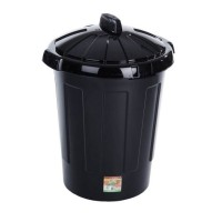 Black Plastic Bin 80 litre | Heavy Duty Dustbin with Lid