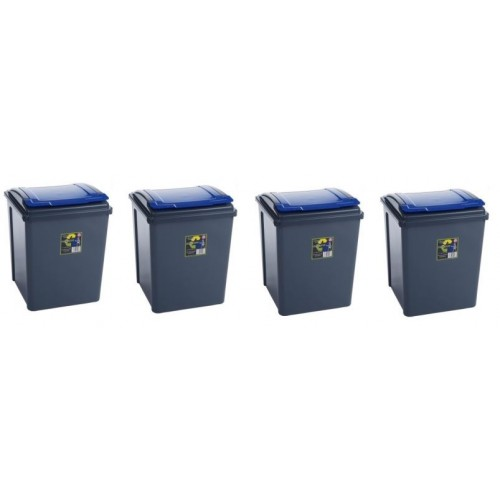 Colour Coded Recycling bins | Plastic Recycle Bin 50 Liter | Set Of 4