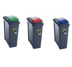 25 Liter Plastic Recycle Bin Set Of 3