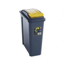 25 liter Plastic Containers | Yellow Grey Recycling Bin