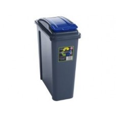 25 liter Plastic Containers | Blue Grey Recycling Bin