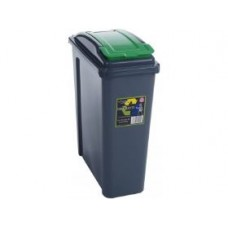25 liter Plastic Containers | Green Grey Recycling Bin