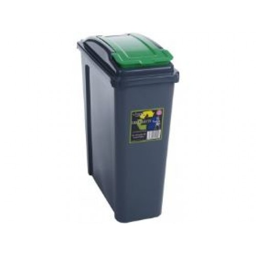 Plastic 25 Dustbin Garden Waste Rubbish Recycle Bin & Kitchen Recycling Bins
